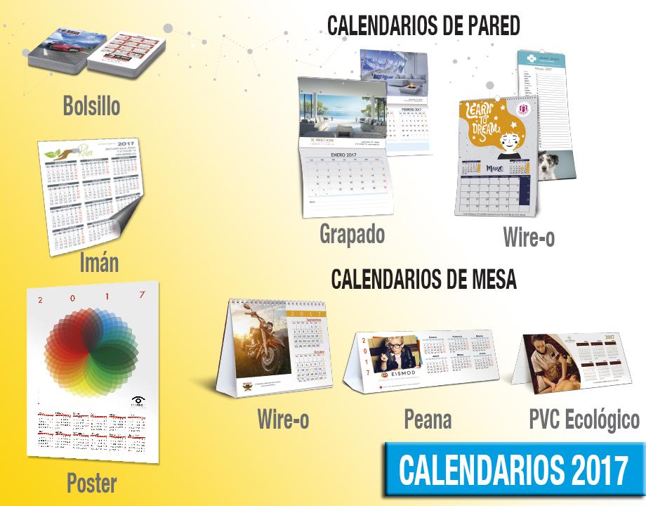 calendarios personalizados 2017